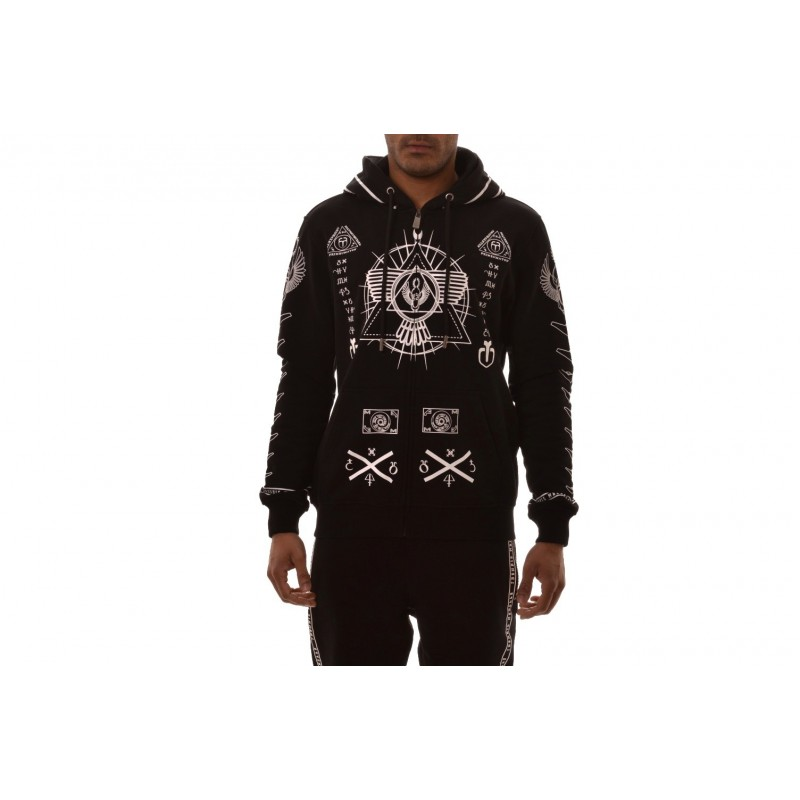 FRANKIE MORELLO -  Hooded sweatshirt with printed - Black