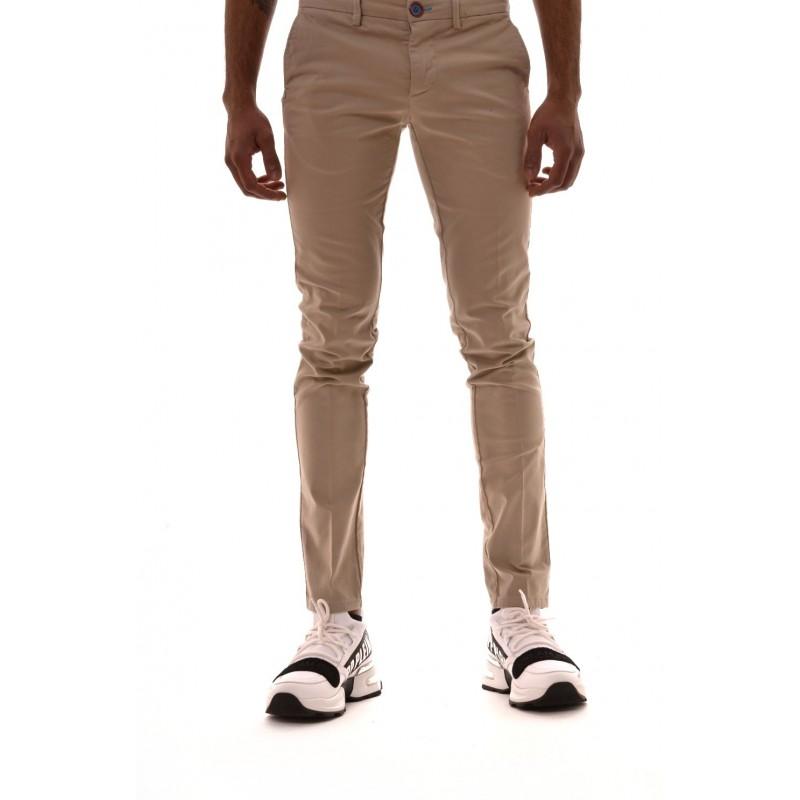 DIMATTIA - Pantalone in cotone elasticizzato - Beige