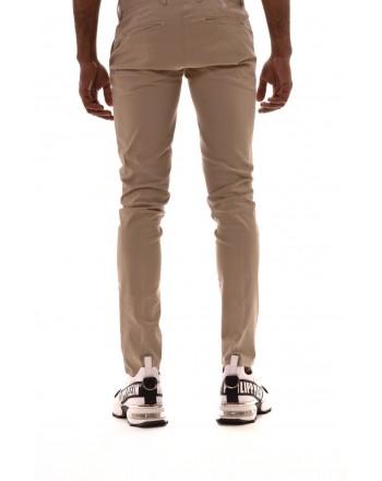 DIMATTIA - Stretch cotton trousers - Beige