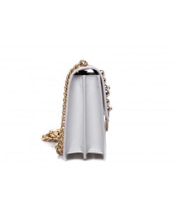 PINKO - LOVE leather handbag with pearls - White