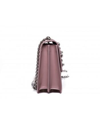 PINKO - Borsa LOVE in pelle con Perle - Light Pink