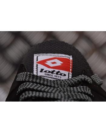 LOTTO LEGGENDA -  MARATHON KNIT leather sneakers - Light Asphalt/All