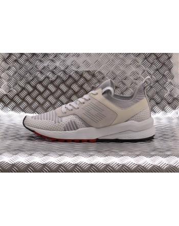 LOTTO LEGGENDA -  MARATHON KNIT leather sneakers - White/vapor Grey