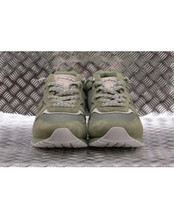 LOTTO LEGGENDA - Sneakers TOKIO GINZA in pelle - Oil Green/White