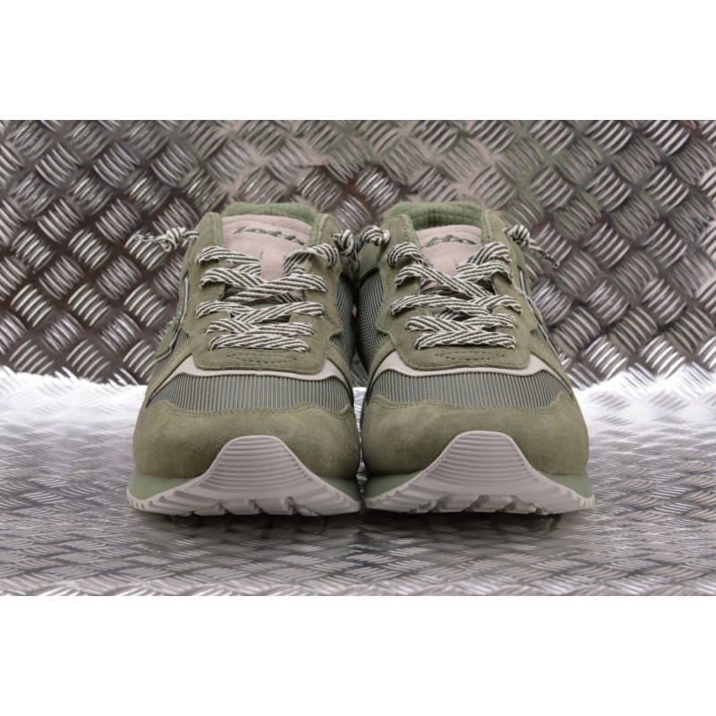 LOTTO LEGGENDA -  TOKIO GINZA leather sneakers - Oil Green/White
