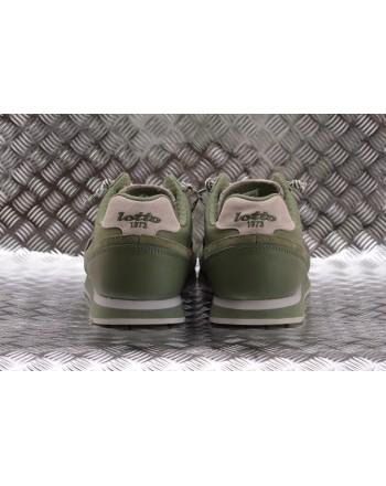 LOTTO LEGGENDA -  TOKIO GINZA leather sneakers - Oil Green/White