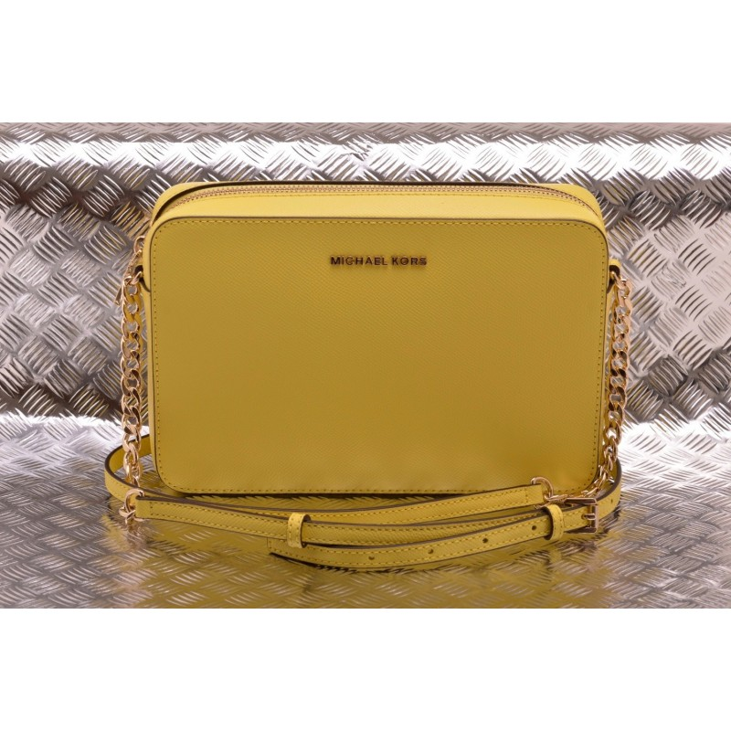 e9e2c1be8933 MICHAEL BY MICHAEL KORS - Saffiano leather JET SET CROSSBODY Bag - Sunshine