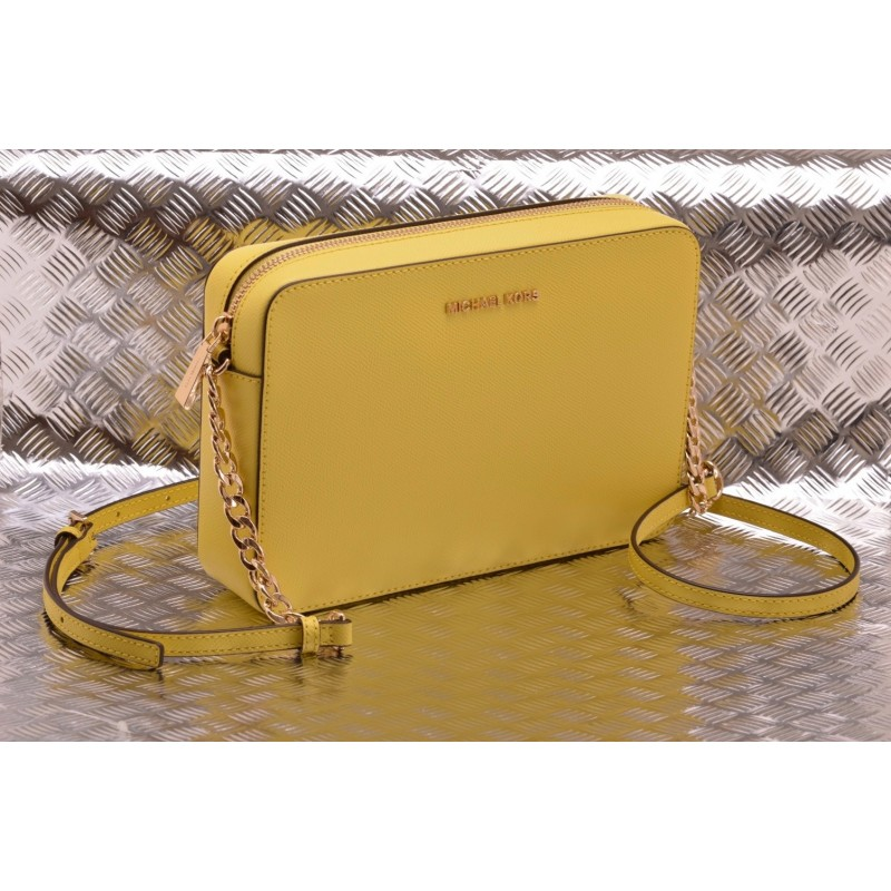 MICHAEL BY MICHAEL KORS - Tracolla JET SET TRAVEL CROSSBODY in pelle Saffiano   - Sunshine