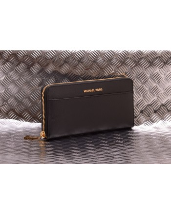 MICHAEL BY MICHAEL KORS - Leather wallet with zip around - Black