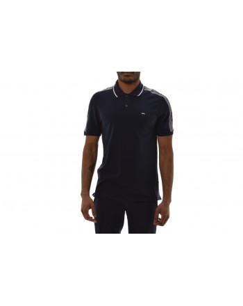 MICHAEL BY MICHAEL KORS - Cotton Polo Shirt with Logo - Night Blue