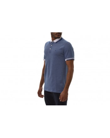 MICHAEL BY MICHAEL KORS - Cotton Polo Shirt with Logo on Collar - Pastel Blue
