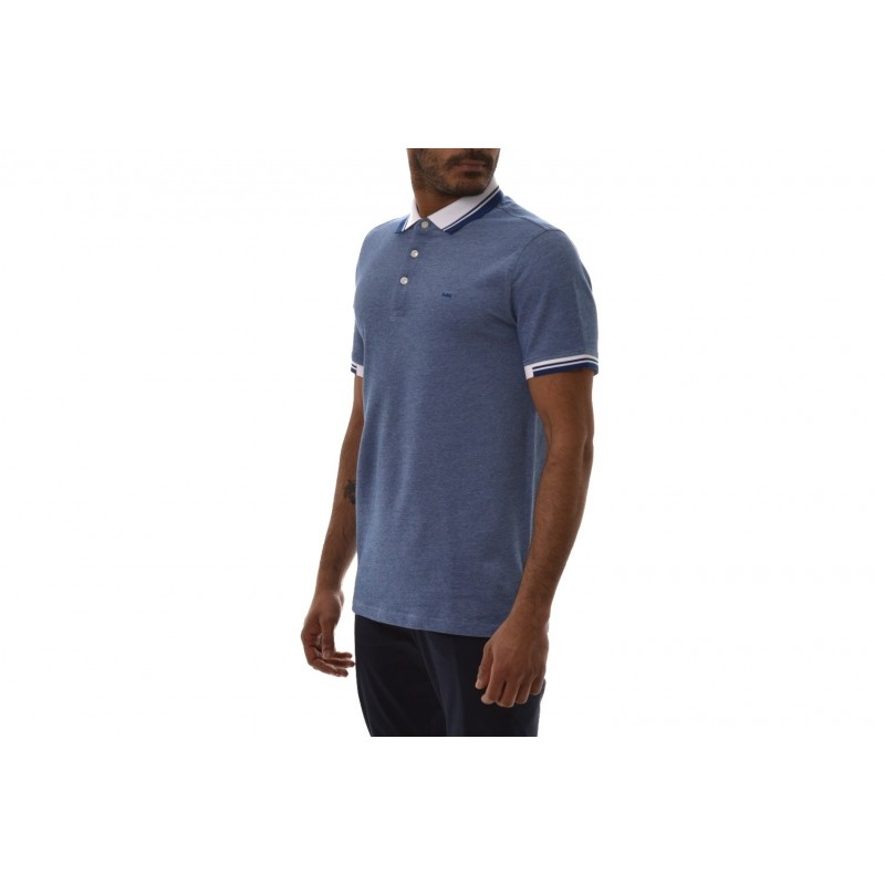MICHAEL BY MICHAEL KORS - Polo in Cotone con Logo sul Colletto - Pastel Blue