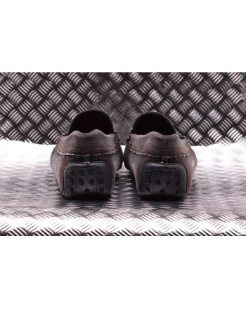 TOD'S - Denim Loafers with Gums - Grey