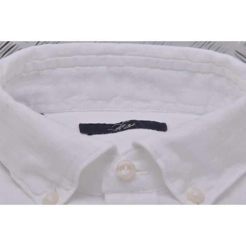 FAY -  Linen shirt - White