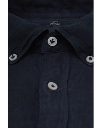 FAY -  Linen shirt  - Blue