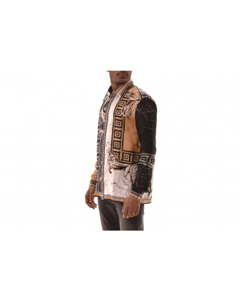 VERSACE COLLECTION - Camicia in viscosa con stampa - Nero/Stampa
