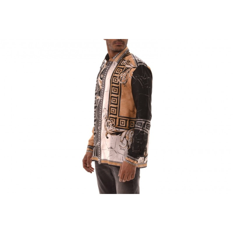 VERSACE COLLECTION - Viscose shirt with printed - Black