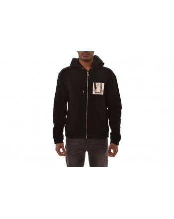 VERSACE COLLECTION - Cotton hooded sweatshirt - Black