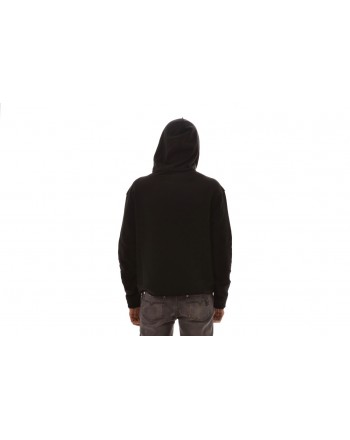VERSACE COLLECTION - Cotton hooded sweatshirt - Black