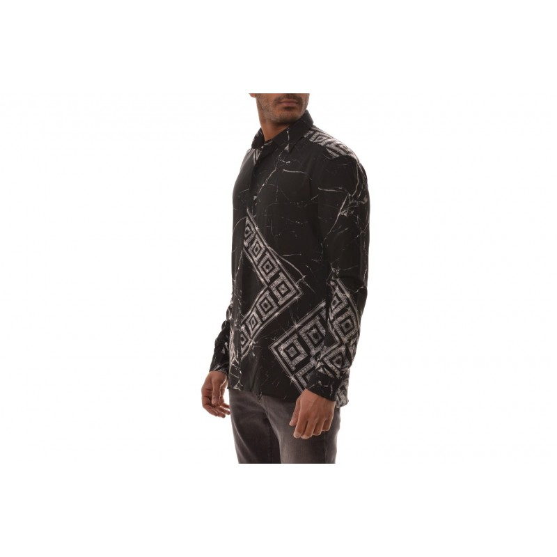 VERSACE COLLECTION - Munster Styled Shirt  -Black /Patterned