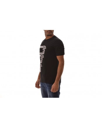 VERSACE COLLECTION - T-Shirt in cotone con stampa LOGO - Nero