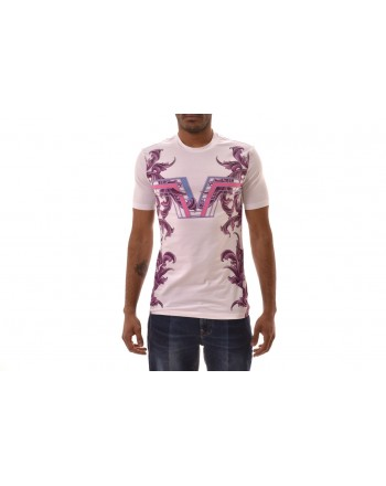 VERSACE COLLECTION - Logo Printed T-Shirt  - White/Patterned