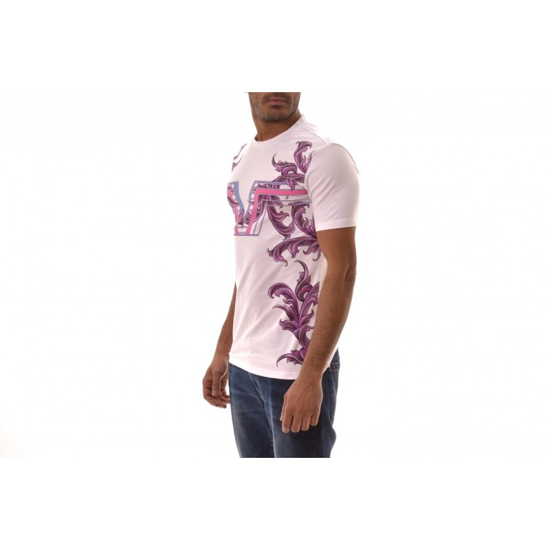 VERSACE COLLECTION - T-Shirt con stampa Logo  - Bianco/Stampa