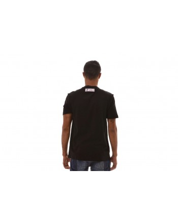 VERSACE COLLECTION -  T-Shirt with Logo Patch - Black