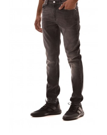 VERSACE COLLECTION -  5 Pockets Denim Trousers - Black