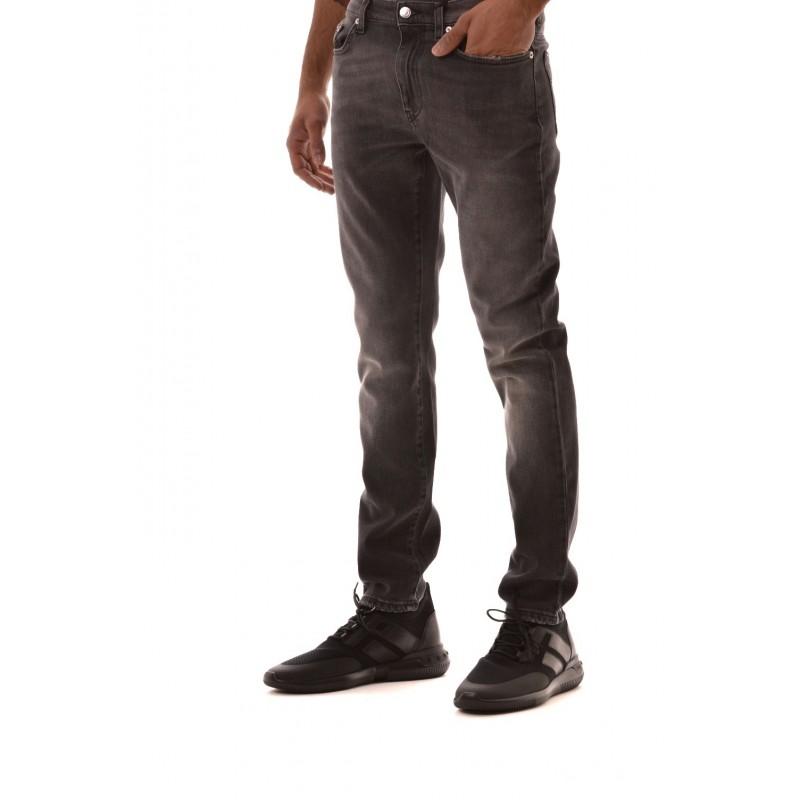 VERSACE COLLECTION - Pantalone in Denim 5 Tasche - Nero