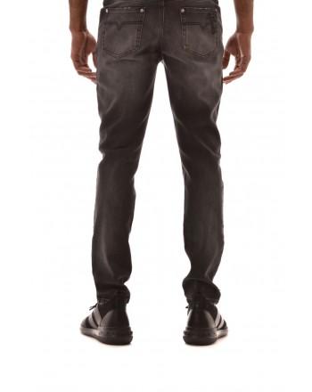 VERSACE COLLECTION -  5 Pockets Denim Trousers - Black