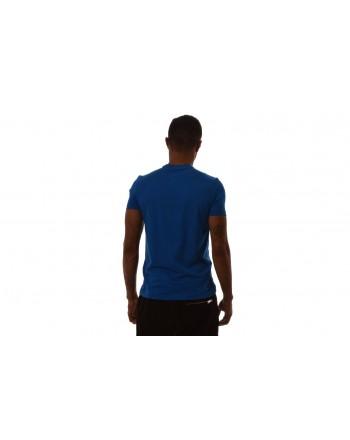EMPORIO ARMANI - T-Shirt in cotone con stampa LOGO - Bluette
