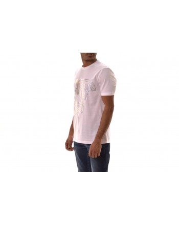 VERSACE COLLECTION - Medusa Cotton T-Shirt   - White/Patterned