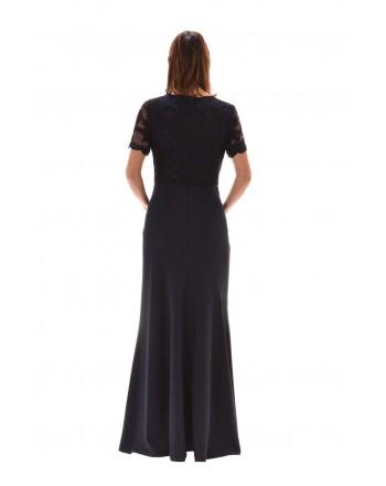 POLO RALPH LAUREN - Long Dress with Lace Detail BRINLEY - Blue