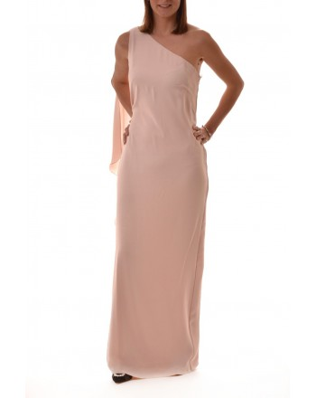 POLO RALPH LAUREN - Long One Shoulder Dress DEANNIE - Light Pink