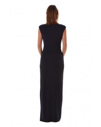 POLO RALPH LAUREN - Long Dress with Jewel Buckle SHAYLA - Blue