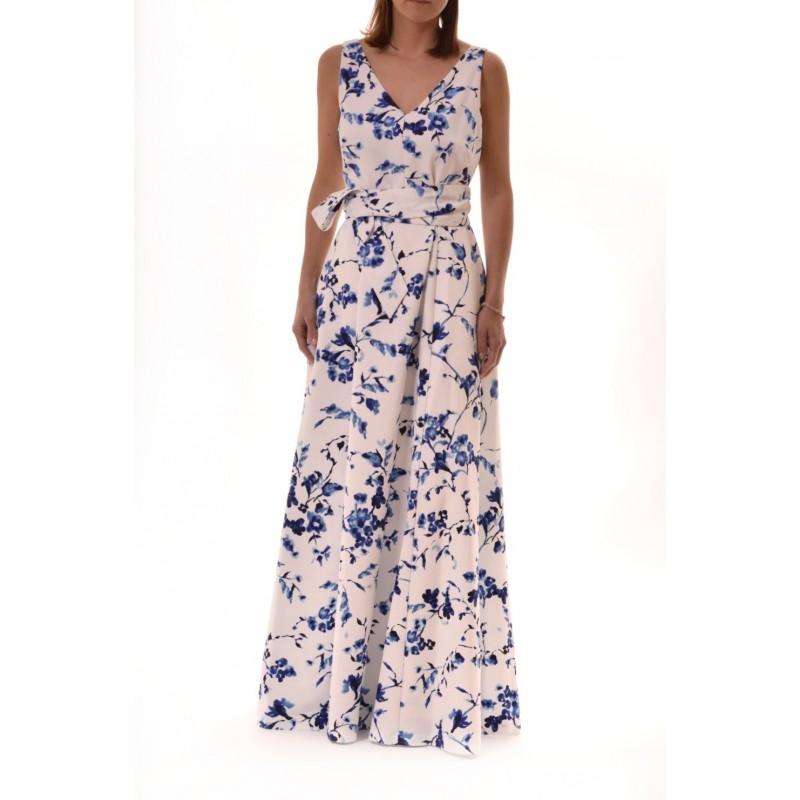 POLO RALPH LAUREN - Long FloralPrinted  Dress TIVIANA - Blue