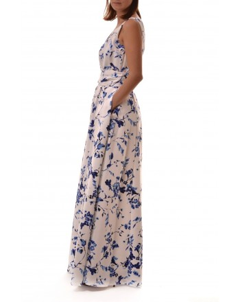 POLO RALPH LAUREN - Long FloralPrinted  Dress TIVIANA - Blue