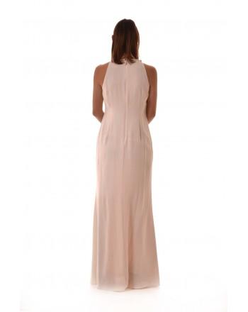 POLO RALPH LAUREN - Long Dress RAJYA with Side Frills  - Pink