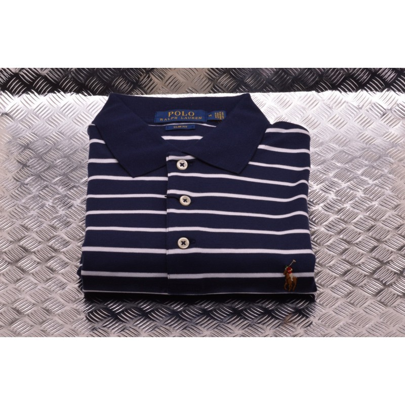 Lauren Polo Navywhite Fit Striped Ralph Slim rdBtshQCx
