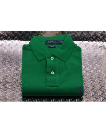 POLO RALPH LAUREN -  Polo in Cotone Slim Fit  - Biliardo
