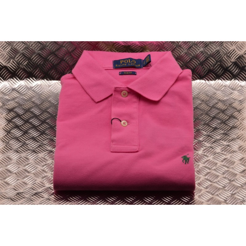 POLO RALPH LAUREN -  Polo in Cotone Slim Fit  - Maui Pink
