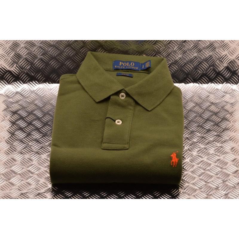 POLO RALPH LAUREN - Slim Fit Cotton Polo Shirt - OliveGreen