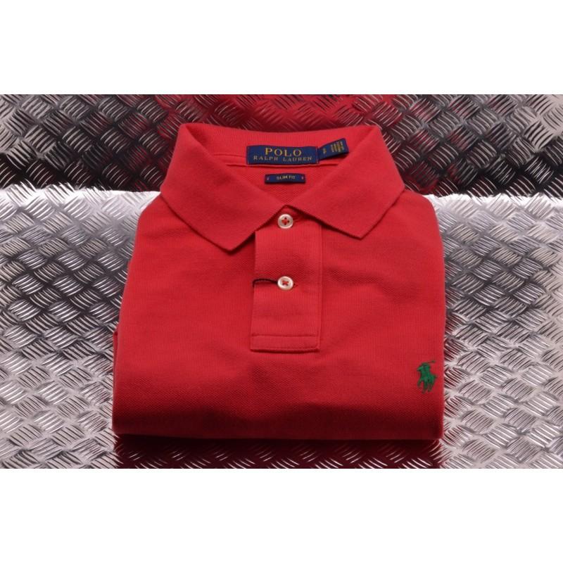 POLO RALPH LAUREN - Slim Fit Cotton Polo Shirt  -  Royal Magenta