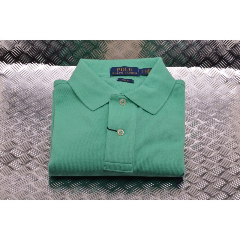 POLO RALPH LAUREN -  Polo in Cotone Slim Fit  - Sunset Green