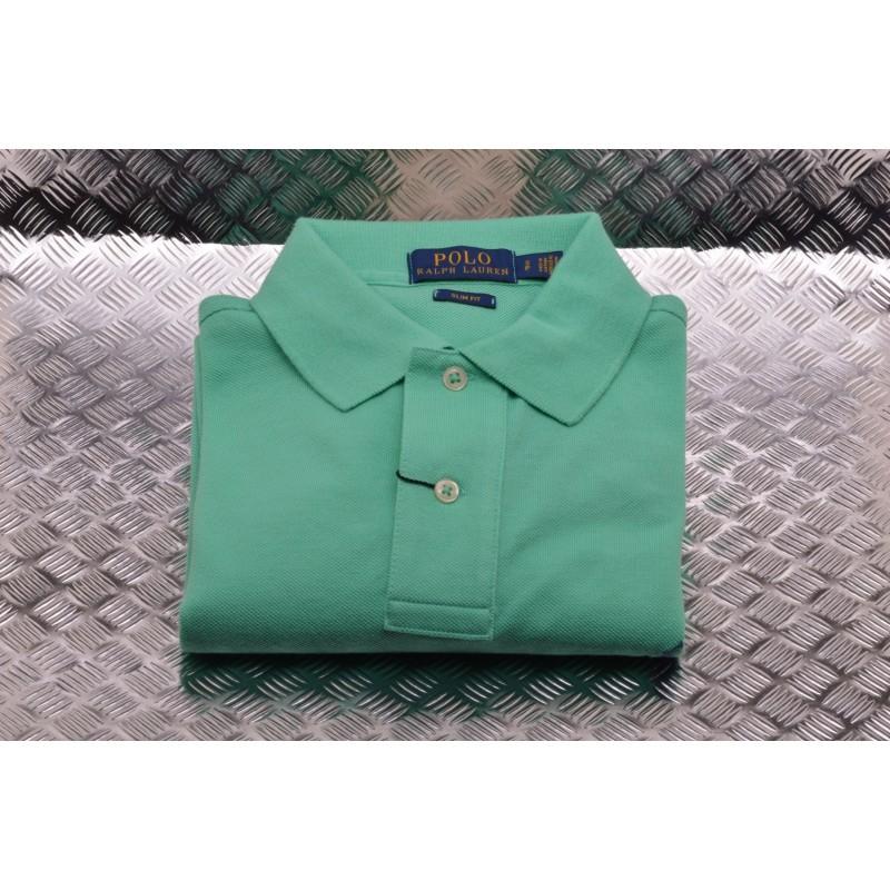 POLO RALPH LAUREN - Slim Fit Cotton Polo Shirt  - Sunset Green