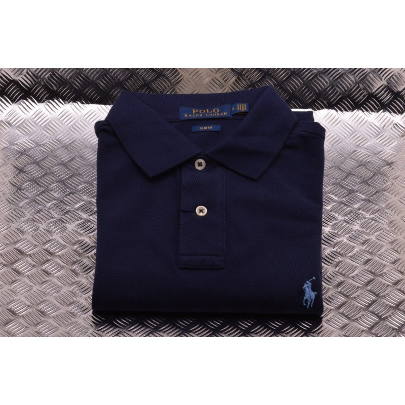 POLO RALPH LAUREN -  Polo in Cotone Slim Fit  - Newport Navy
