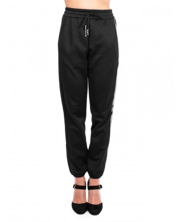 PINKO - Fleece Trousers DEPILATORE - Black