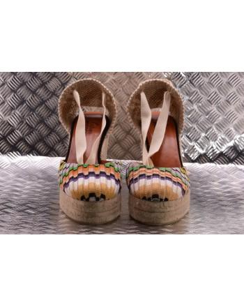 CASTANER - Espadillas  con Zeppa in Tela di Cotone CARINA Capsule MISSONI  - Multicolor