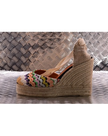 CASTANER - Hemp Wedge Espadillas CARINA Capsule MISSONI  - Multicolor
